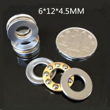 10Pcs F6-12M Thrust Ball Bearings Thrust Bearing 6*12*4.5mm Axial Ball