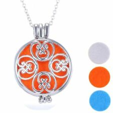 Locket Necklace  Diffuser Essential Oil Aromatherapy plus 3 pads