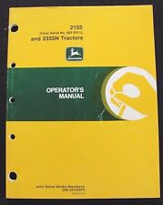 Genuine John Deere 2155 & 2355N Tractor Operators Manual Ser. #622000 & Up