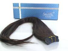 "SHOWJARLLY 20 pcs glue Hair Extensions Human Hair  20""long  #2 Dark Brown"