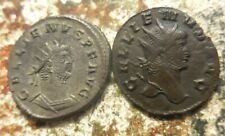 Lot of 2 About EF for Type Gallienus Coins, Left Billon Silver is 21 mm, 3.76 gm