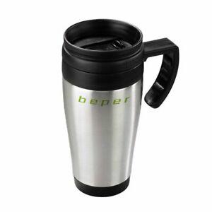 Beper Tazza Termica 400 ml Termoisolante Caffè Thè Teiera Mug Acciaio Plastica
