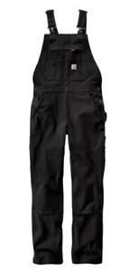 Carhartt Women's Rugged Flex Twill Double-Front Bib Overalls 4/6 Short