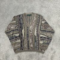 Vintage Tundra Canada Men's Size Large Textured Cosby Style Sweater