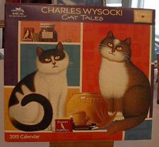 CHARLES WYSOCKI 2015 CAT TALES CALENDAR 12 ART PRINTS FREDERICK ETHEL MAGGIE NEW