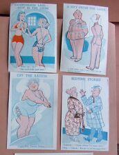 4 x 1940's, war-time rationing: moth-eaten swimsuit, fat bather etc.