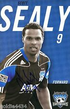 2010 SCOTT SEALY #9 San Jose EARTHQUAKES Autographed Signed Soccer Card MLS