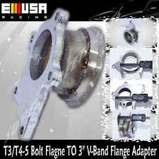 """Steel Adaptor fit T3/T4-5 Bolt Flagne TO 3"""" V-Band Flange Toyota Mazda Dodge"""