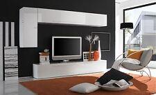 Mobile parete soggiorno Primo E laccato bianco o peltro sala salotto pensili