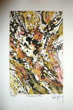 Wogensky Robert gravure originale signée numérotée Abstrait abstraction lyrique