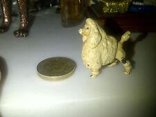 Antique Miniature Austrian Bronze Cold Painted  Dolls House Poodle,Caniche Dog