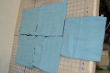 bulk lot of 5 adult blue fleece acrylic heavy turtle fur USA made outdoor neck