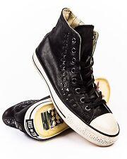 NIB $200 Converse by John Varvatos CT Hi Black / Gun Metal 150162C US Mens 12