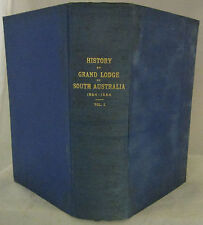 History of First Fifty Years of Freemasonry South Aust Glover 1st HC 1916  RARE