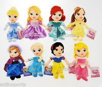 Principesse Originali Disney Peluche Ariel Rapunzel Elsa Cenerentola Belle 22cm