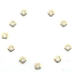 10 ROUND CZ DOTS HOUR MARKERS FOR MENS DATE JUST DAYDATES ROLEXS WATCH DIALS