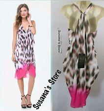 NWT BEBE Print Draped Dress SIZE XXS Effortlessly chic, beautiful MSRP$137