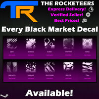 [PC] Rocket League Universal Black Market Decal Hex Tide Glorifier 20XX etc