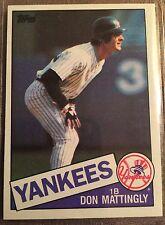 1985 Topps Baseball  Don Mattingly 2nd Yr Card #665 Nrmt/Mt Condition~NY Yankees