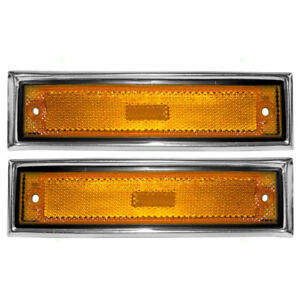 NEW Front Side Marker lights Set for 81-91 Chevrolet C10 C20 C30 GMC C1500 C2500