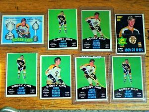 1969-70 O-Pee-Chee Bobby Orr Lot of 8 : very good to good