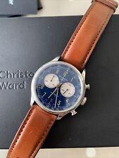 Christopher Ward C3 Grand Tourer Blue 39mm Swiss Chronograph watch