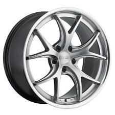 MRR GT8 19x9.5 5x114.3 +38 Hyper Silver Wheels Fits Mazda 3 Rx8 Eclipse Tc 350z