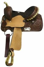 """13"""" Double T Youth Saddle with Leather Latigo and Off Billet"""