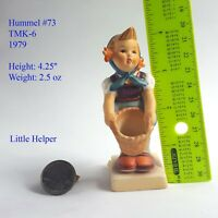 Genuine Vintage Hummel Figurine Little Helper 1970s TMK-6 Hummel #73   Signed