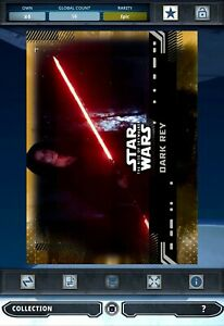 Topps Star Wars Digital Card Trader The Rise of Skywalker Epic Gold DARK REY