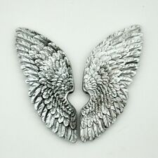 Pair of Silver Wall Hanging Stone Resin Angel Wings Brand New /& Boxed 10x5x2cm
