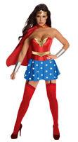 Superwoman Superhero Supergirl Wonder Woman Fancy Dress Halloween Costume S-2XL