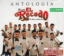 Banda El Recodo Antologia de Cruz Lizarraga 3CD+1DVD New Nuevo Caja de Carton