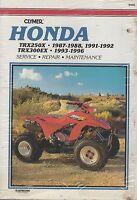 1987-1996 CLYMER HONDA ATV TRX250X,TRX300EX SERVICE MANUAL M456 (280)