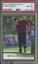 2001 Upper Deck Golf #1 Tiger Woods PSA 10 GEM MINT