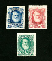 Brazil Stamps # 70-2 VF OG LH Set of 3 Scott Value $100.00