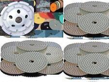 7 Inch Diamond Polishing Pad 8 PIECE & 7 Inch Double Row Grinding Cup Granite