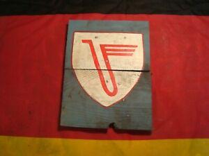 WW2 German Jagdgeschwader 3 JG3 Timber Sign Luftwaffe Rottershausen Depot