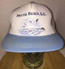 Vtg Myrtle Beach Sc South Carolina Trucker Hat Cap Snapback 70s 80s Seagulls