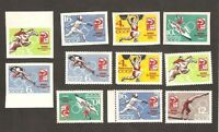Russia Mint Sports Stamps Perforated and Imperforated XVIII Tokyo Olympic Games