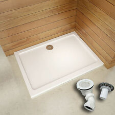 Quality 1600x900x30mm Slimline Shower Enclosure Rectangle Stone Tray Free Waste