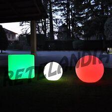 Sfera luminosa per esterno LED RGB cm 30 con batteria RICARICABILE e telecomando