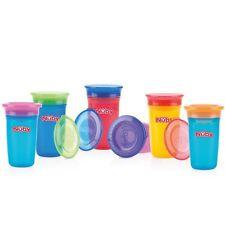Nuby ID10414 Wonder Cup 360 Grad Becher auslaufsicher ab 6M+ farblich sortiert