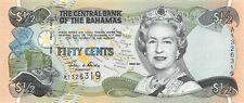 Bahamas  $ 1/2   2001  P 68  Series A  Uncirculated Banknote RedB