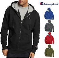 Champion Men's Powerblend Fleece Full Zip Hoodie Jacket Zipper Hooded Sweatshirt