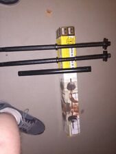 "Golds Gym 5' Weight Lifting Bar Holds Standard 1"" Plate missing 2 locking pins"