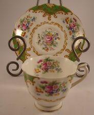 Royal Albert Bone China England Tea Cup Saucer Reg No 832881 Albany Green Gold