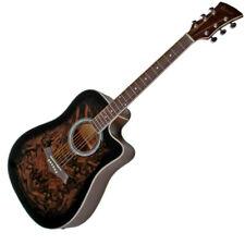 Akustik Western Gitarre, Cutaway, Pre Amp Tonabnehmer, Mahagoni Hals, Brownburst
