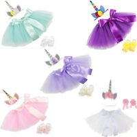 Toddler Baby Girls Princess Unicorn Tutu Skirt Headband Fancy Dress Costume