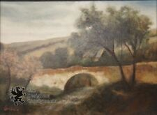 "Beautiful Landscape W/ Bridge Print on Canvas River Stream Designer 12"" x 16"""